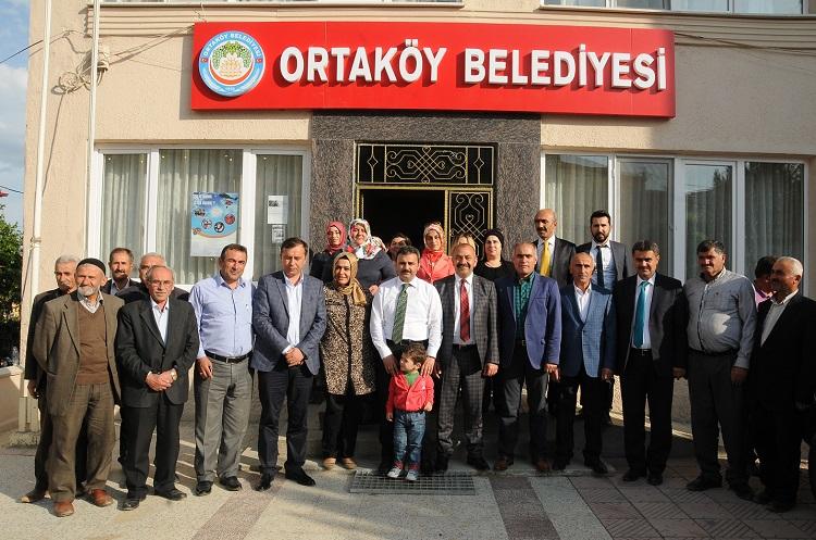 KÜLCÜ'DEN ORTAKÖY BELEDİYE BAŞKANI'NA ZİYARET