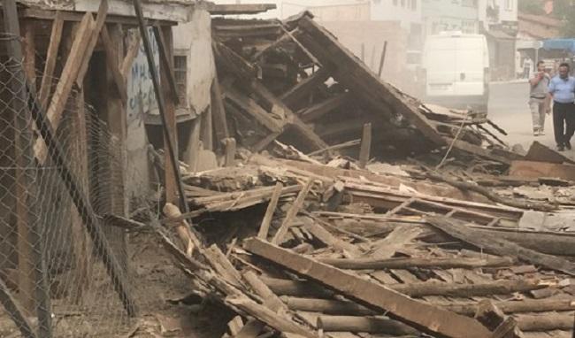metruk bina çöktü çorum (2)