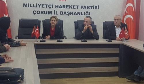 TAŞERON MAĞDURLARI MHP'Yİ ZİYARET ETTİ