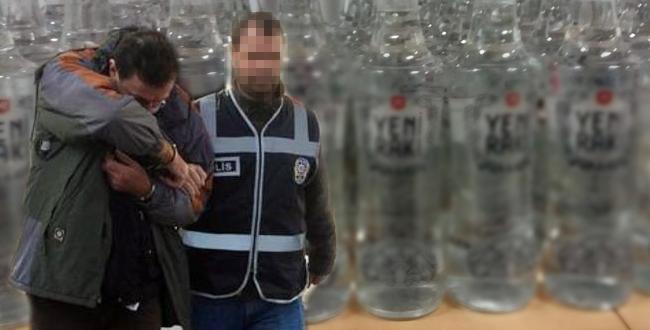 POLİSTEN KAÇAK RAKI OPERASYONU