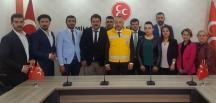 ATT ÇALIŞANLARINDAN MHP'YE ZİYARET