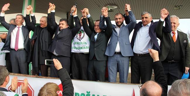 ŞEKER'İN ÖZELLEŞTİRİLMESİ PROTESTO EDİLDİ