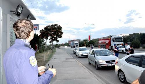 POLİSTEN TRAFİĞE DRONE İLE SIKI DENETİM