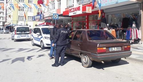 POLİSLER ASAYİŞ UYGULAMASI YAPTI