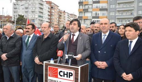 CHP'LİLER SALDIRIYI PROTESTO ETTİ