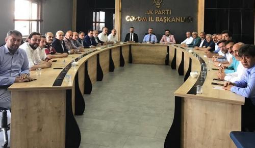 AK PARTİ İSTİŞARE TOPLANTISI YAPTI