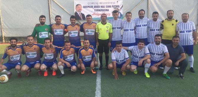 BELEDİYE'DE FUTBOL TURNUVASI BAŞLADI