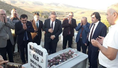 ŞEHİT POLİSİN MEZARINI ZİYARET ETTİLER